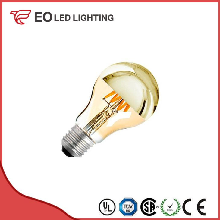 A60 E27 6W LED Gold Reflect Filament Bulb