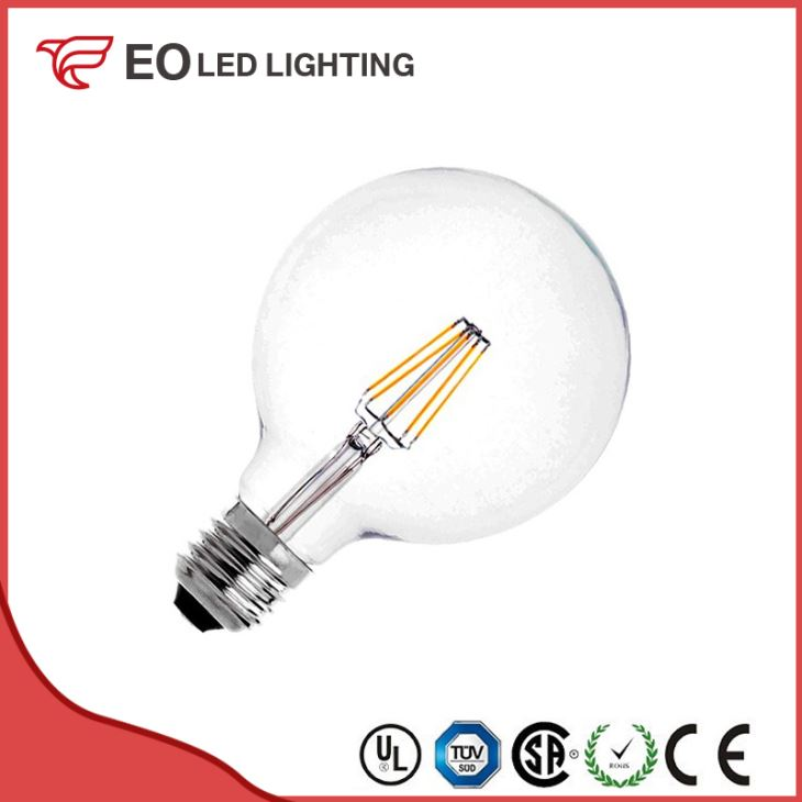G125 E27 6W LED Supreme Filament Bulb