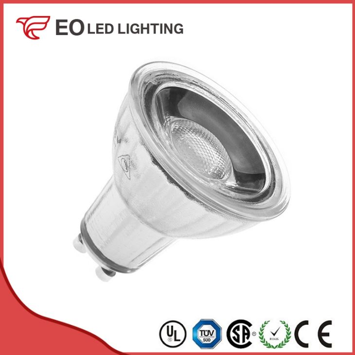 Glass GU10 7W COB LED Bulb