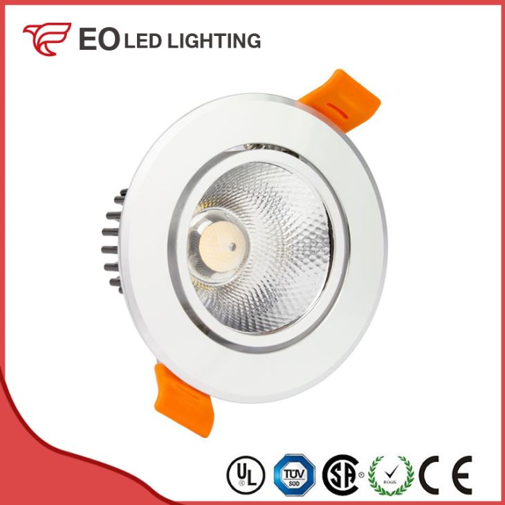Silver Round 5W COB LED Downlight