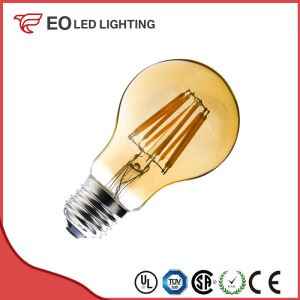 A60 E27 6W LED Classic Gold Filament Bulb