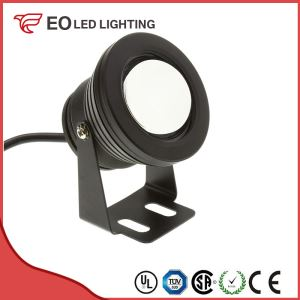 Black 7W RGB LED Surface Garden Spotlight