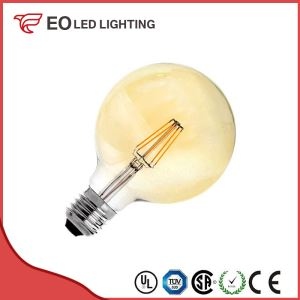 G125 E27 6W LED Supreme Gold Filament Bulb