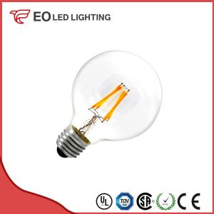 G80 E27 6W LED Balloon Filament Bulb