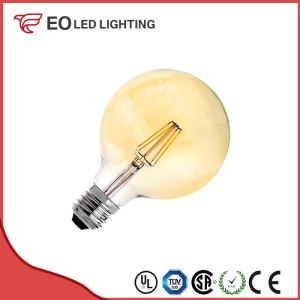 G95 E27 6W LED Gold Planet Filament Bulb
