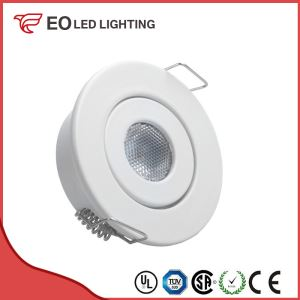 White Adjustable 1W COB LED Downlight