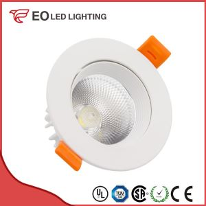 White Round 3W COB LED Downlight