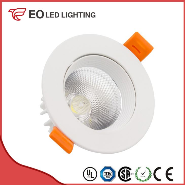 White Round 12W COB LED Downlight